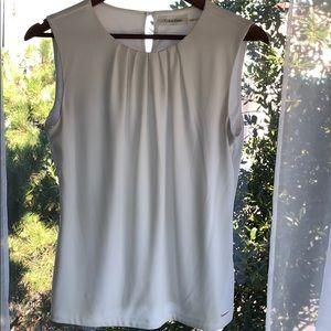 Calvin Klein sleeveless blouse, White